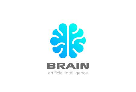 Brain Artificial Intelligence icon design   template. AI technology  concept Illustration