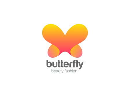 Butterfly icon abstract design vector template for Beauty Cosmetics Brand Illustration