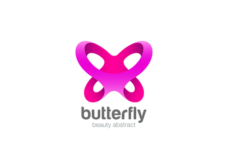 Butterfly icon abstract design template for Beauty Cosmetics Brand