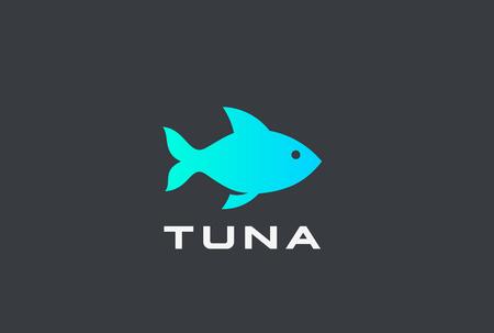 Tuna Fish Logo design vector template Archivio Fotografico - 114976170