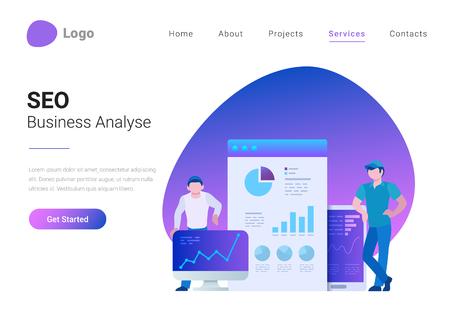 UI UX Design Menschen Teamwork Flat Style Landing Page Banner Vector Illustration. Kreativteam erstellt Schnittstelle im Webbrowserfenster