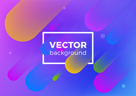 Geometric Fluid abstract motion vector Background. Poster Banner design template ultraviolet style