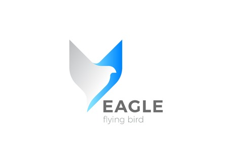 Eagle Bird Flying Logo design vector template. Falcon Hawk Corporate Business Logotype concept icon