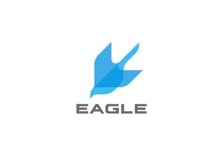 Flying Eagle bird abstract Logo design geometric shape vector template Illustration