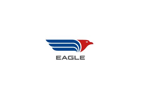 Eagle Wings Logo abstract design vector template. Falcon Hawk Logotype concept icon. 向量圖像