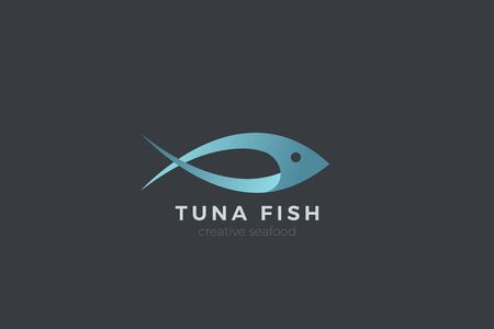 Fish Tuna Seafood Logo abstract design vector template.