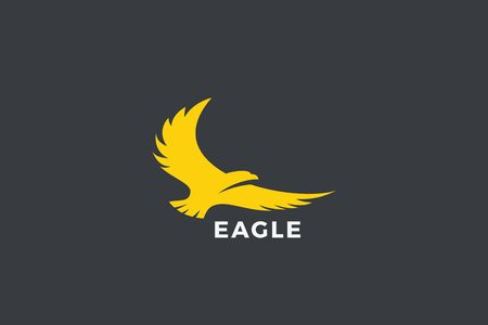 Eagle Flying Soaring Logo abstract design vector template. Falcon Hawk Logotype concept icon. Illustration