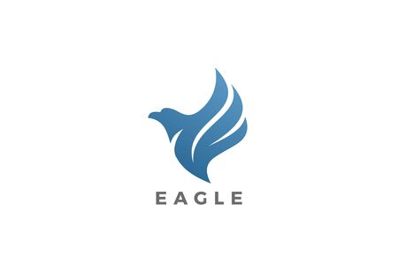 Flying Wings Eagle Bird Logo abstract design vector template Illustration