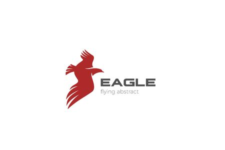 Eagle Flying abstract design vector template. Falcon Hawk Wings concept icon.