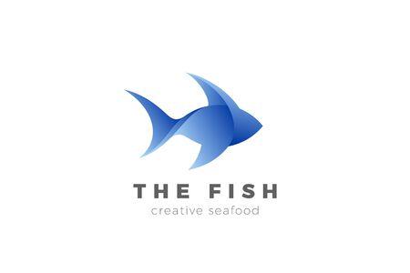Fish Tuna Shark Seafood Logo abstract design vector template.