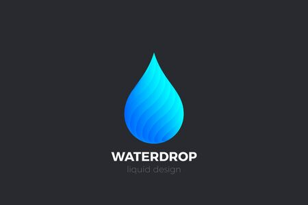 Water Droplet Drop Logo design vector template. Natural Mineral Aqua Drink Oil Liquid Energy Logotype concept icon.