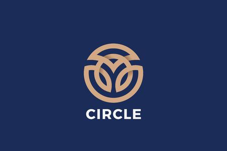 Circle shape Logo design abstract Linear Outline Luxury style