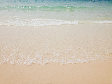 Tropical Beach sand waves nature background