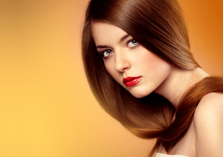 Healthy hair and skin care.  Stock Photo