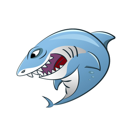Funny Shark Cartoon Illustration