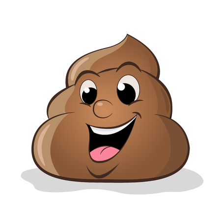 Funny cartoon poop vector illustration