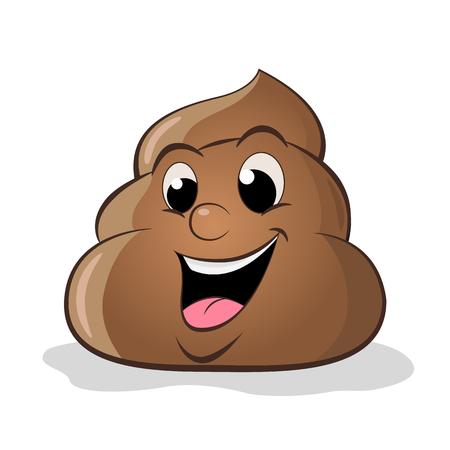 Funny cartoon poop vector illustration