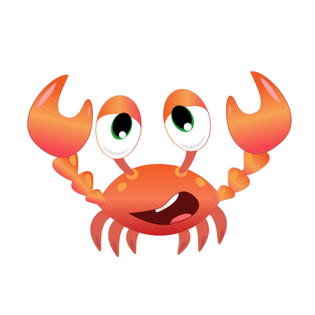 Funny crab vector illustration