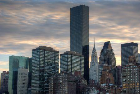 Midtown Manhattan Cityscape at Sundown photo