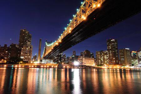 queensboro bridge: Hudson River and Queensboro Bridge