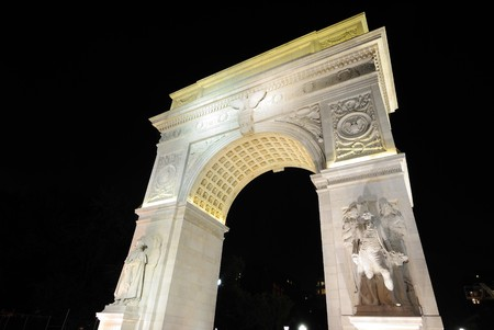 The famous Washington Square Arch, comemmorating George Washington, in New York City. photo