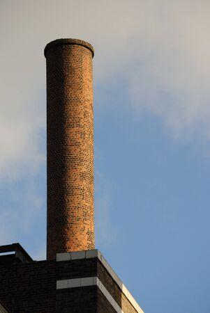 smoke stack: An old brick smoke stack Stock Photo