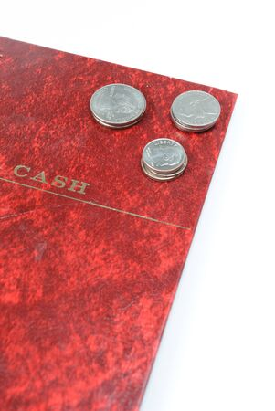 Cash Book and coins