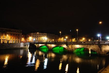De rivier de Liffey in Dublin, Ierland. Stockfoto