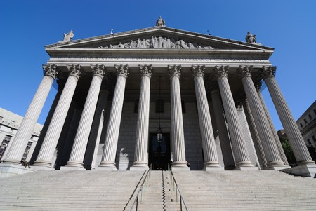 The New York Supreme Court located at 60 Centre Street in New York City. Banque d'images