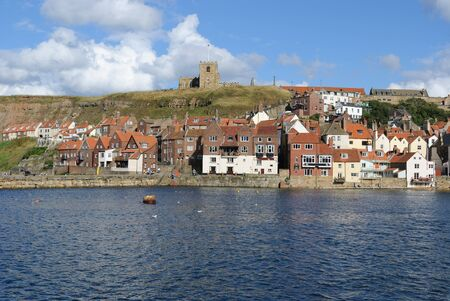 whitby: Cliffs in Whitby, England.