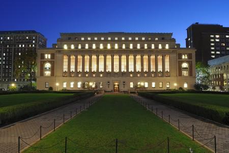 La biblioteca de Butler en Columbia Universary en la ciudad de Nueva York.