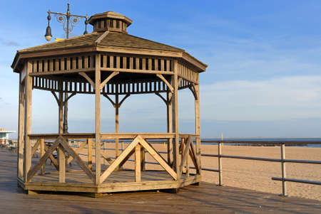 Gazebo at coney Island in New York City. Stock Photo