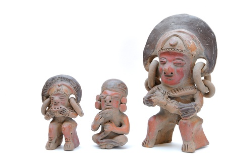 incan: Sculture di Inca isolate on white Archivio Fotografico