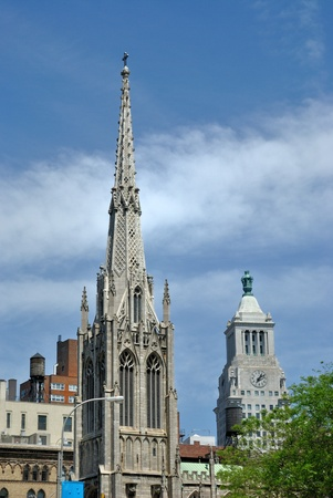spire: Spire of Grace Church in New York City