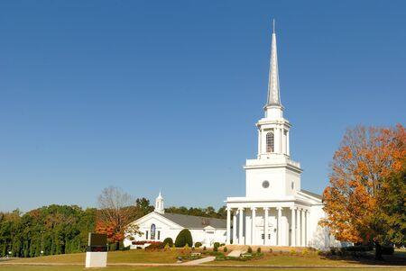 Een zuidelijke Baptist Church in Georgië. Stockfoto