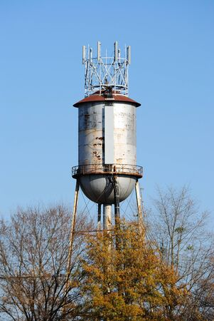 A water tower doubling as an antenna Stock Photo - 8407246