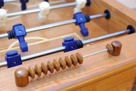 Focusing on the score on a foosball table