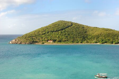 the virgin islands: View of a small peninsula in St. Thomas, Virgin Islands.