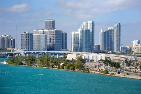 miami south beach: miami skyline