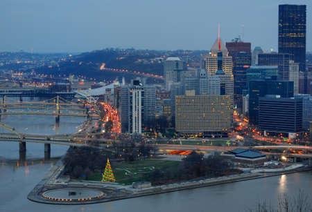 The skyline of Pittsburgh, Pennsylvania. December 4, 2010. photo