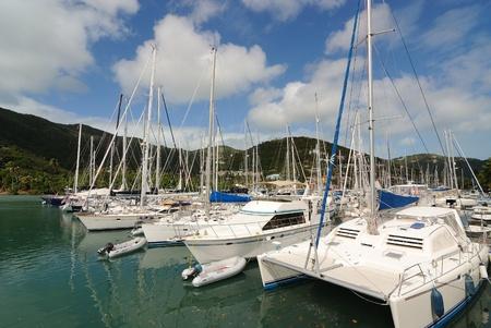 Yachts in Tortola, British Virgin Islands photo