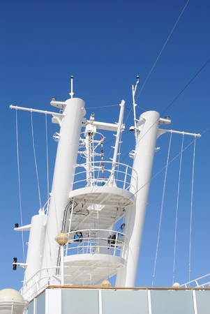 Radar Tower aboard a cruise ship.
