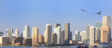 The skyline of Miami, Florida. photo