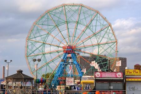coney: New York City, USA, October 25, 2010 - The historic Wonder Wheel ferris wheel in Coney Island, New York. Editorial
