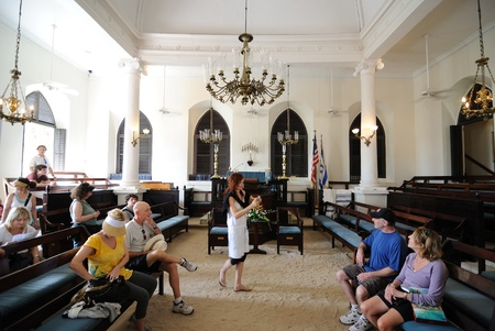 chassidim: Charlotte Amelie, U.S. Virgin Islands, December 29, 2010 - St. Thomas Synagogue (Beracha Veshalom Vegmiluth Hasidim), is the oldest synagogue on U.S. territory located on the island of St. Thomas in the U.S. Virgin Islands.
