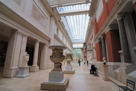 New York City, USA,  September 16, 2010 - European Sculpture Hall at the Metropolitan Museum of Art in New York City.