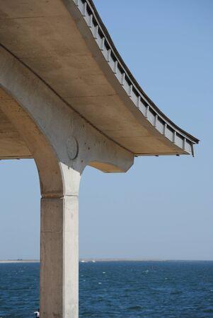 A covering on a sunny beach. 版權商用圖片