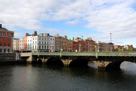 De rivier de Liffey in Dublin, Ierland Stockfoto - 8691554