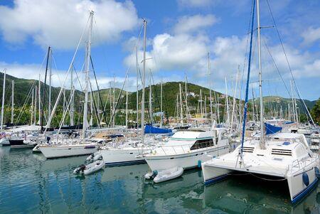 Yachts in Tortola, British Virgin Islands. photo