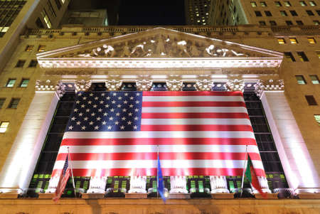 The historic New York Stock Exchange in New YOrk City. May 26, 2010.